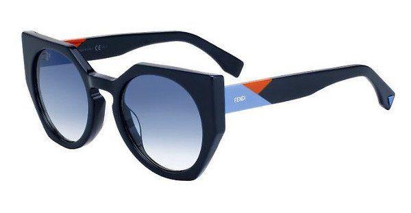 FENDI Fendi Damen Sonnenbrille » FF 0151/S«, blau, PJP/U3 - blau/grau