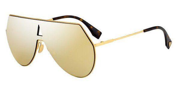 FENDI Fendi Damen Sonnenbrille » FF 0193/S«, schwarz, 807/IR - schwarz/grau