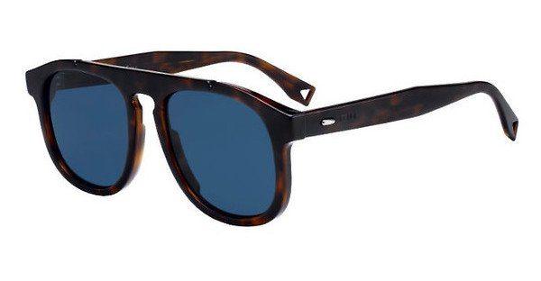 FENDI Fendi Herren Sonnenbrille » FF M0014/S«, braun, 086/KU - braun/blau