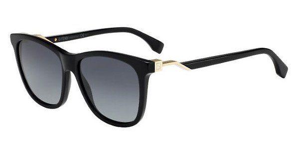FENDI Fendi Damen Sonnenbrille » FF 0199/S«, schwarz, 807/HD - schwarz/grau