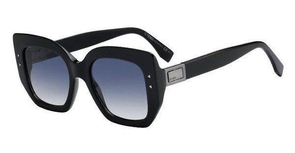 FENDI Fendi Damen Sonnenbrille » FF 0267/S«, schwarz, 807/08 - schwarz/blau