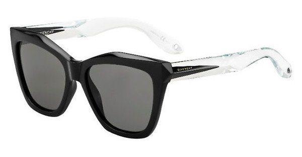 GIVENCHY Givenchy Damen Sonnenbrille » GV 7008/S«, schwarz, QON/CC - schwarz/braun