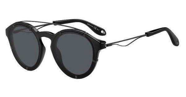 GIVENCHY Givenchy Herren Sonnenbrille » GV 7088/S«, schwarz, 807/IR - schwarz/grau