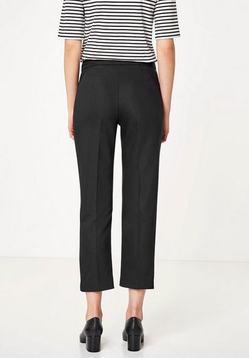 Huber Hall Shortened Straight-cut Pants With Bow-fold
