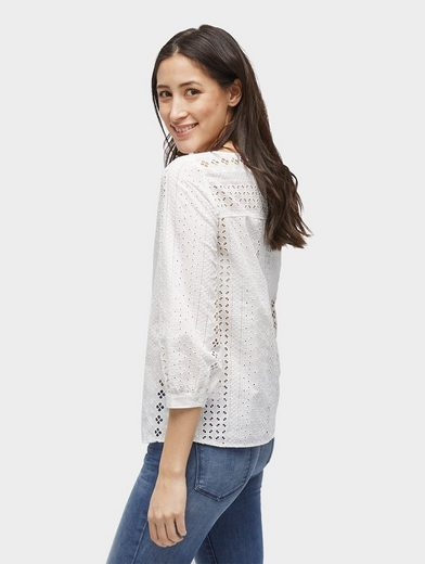Tom Tailor Shirtbluse Bluse mit Lochstickerei