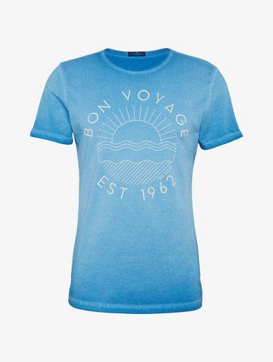 Tom Tailor T-Shirt T-Shirt mit Waschung und Print