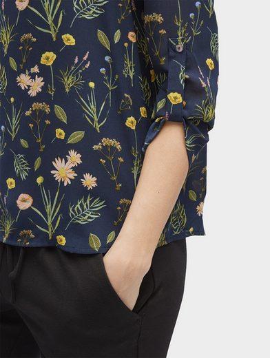 Tom Tailor Langarmshirt Shirt im Materialmix