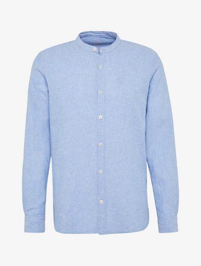 Tom Tailor Shirt Shirt With Stehkragen From Linen-cotton Mixture