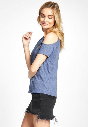 khujo T-Shirt EMMEA, mit Cut-outs im Schulterbereich