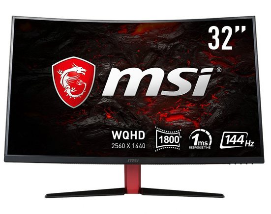 MSI LED-Monitor (2560x1440, WQHD, 1 ms Reaktionszeit, 144Hz) »Optix AG32CQ-8015«