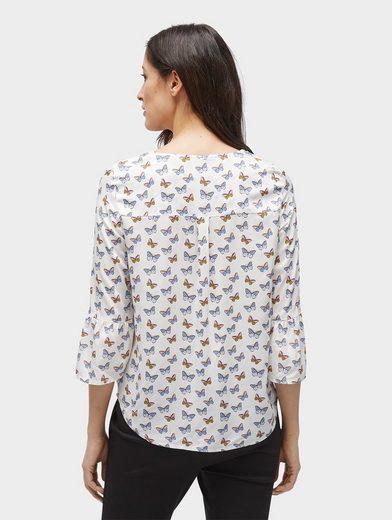 Tom Tailor Shirtbluse Bluse mit Volantärmeln