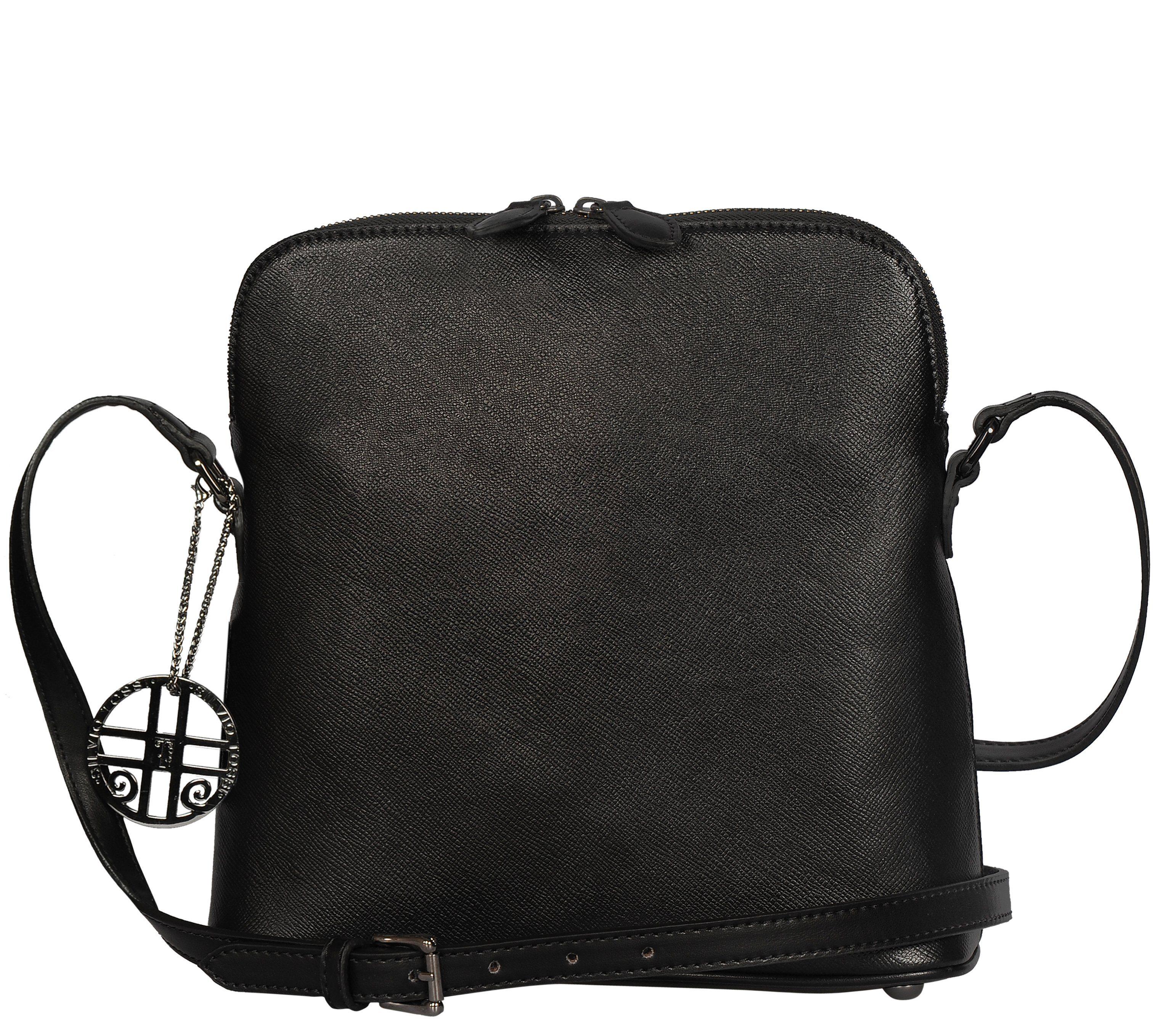 Silvio Tossi Handtasche in Saffian-Design mit Markenanhänger