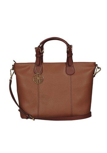 Damen Silvio Tossi Handtasche mit extra Spezialschutz braun | 00635346790881