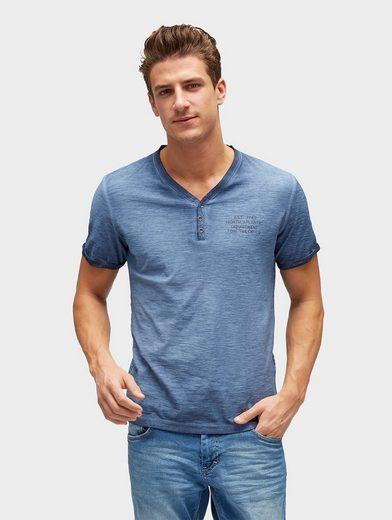 Tom Tailor T-Shirt T-Shirt mit Waschung und Print hinten
