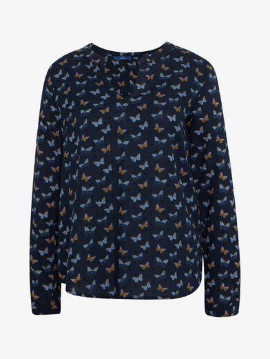 Tom Tailor Langarmbluse Bluse mit Schmetterlings-Print