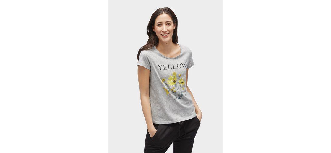 Billige Truhe Bilder Tom Tailor T-Shirt T-Shirt mit floralem Print und Schriftzug vorne Original-Verkauf g1JIJ