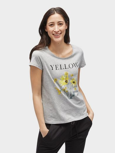 Tom Tailor T-shirt T-shirt With Floral Print And Lettering Front