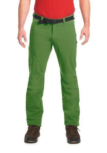 Herren Maier Sports Funktionshose Nil Roll-Up Wanderhose grün | 04056286876309