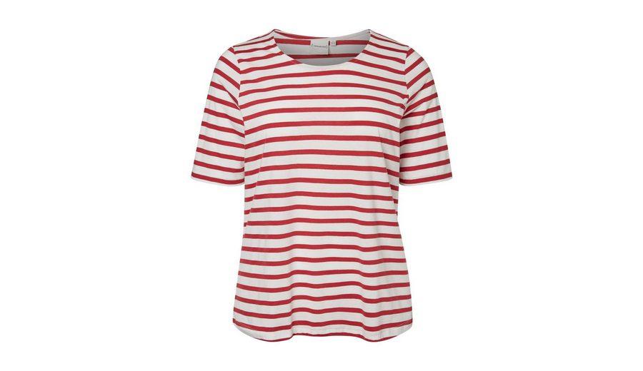 Mode-Stil Online-Verkauf Auslauf JUNAROSE Striped Bluse mit 2/4 Ärmeln Spielraum Manchester Drop-Shipping wAw65
