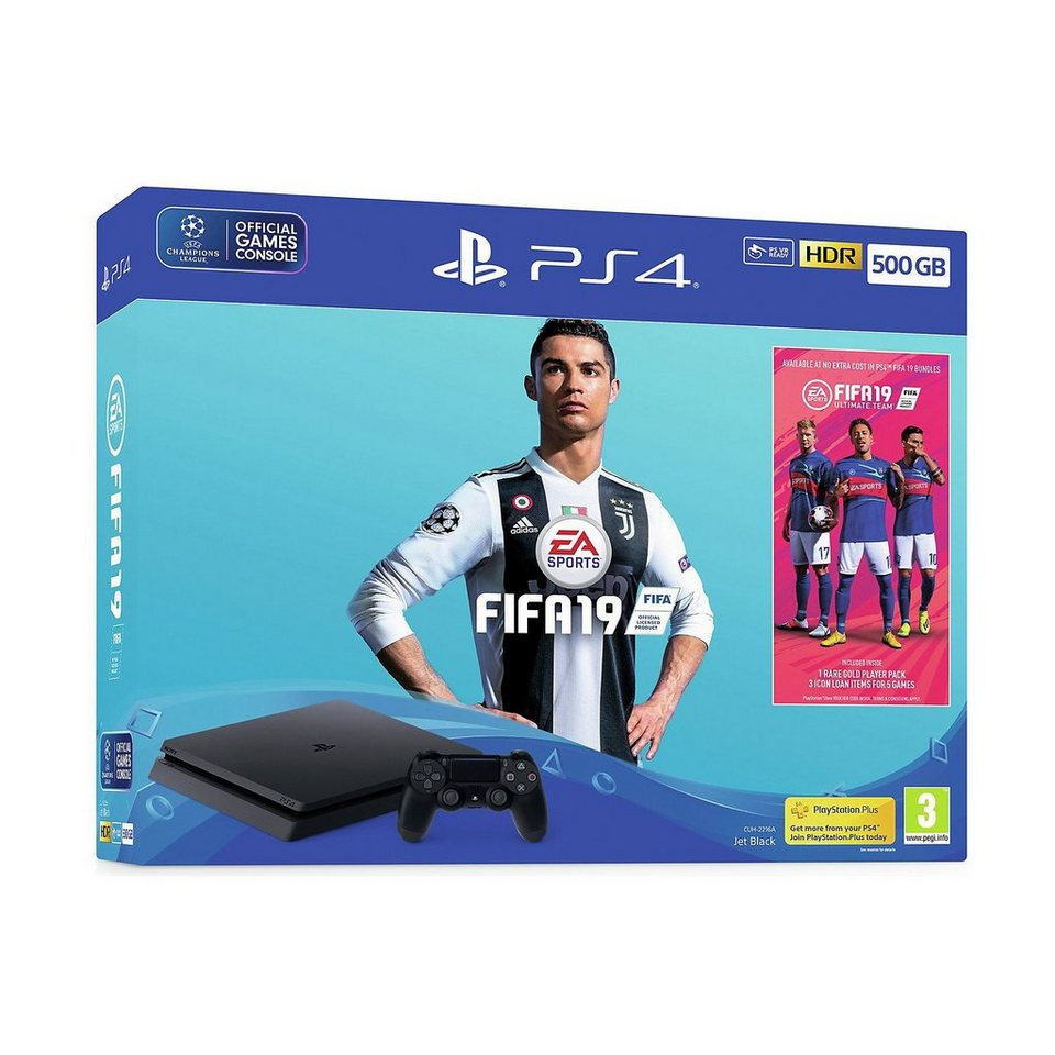 sony ps4 slim konsole 500 gb inkl fifa 19 kaufen otto. Black Bedroom Furniture Sets. Home Design Ideas