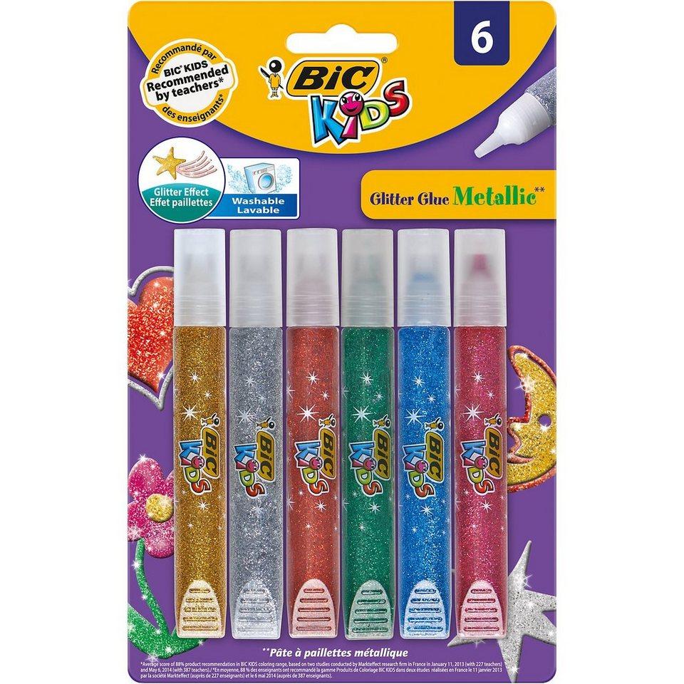 BIC Kids Glitter Glue Metallic, 6 Farben kaufen