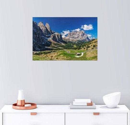 Posterlounge Wandbild - Achim Thomae »Dolomitenpanorama Langkofel und Sellagruppe«