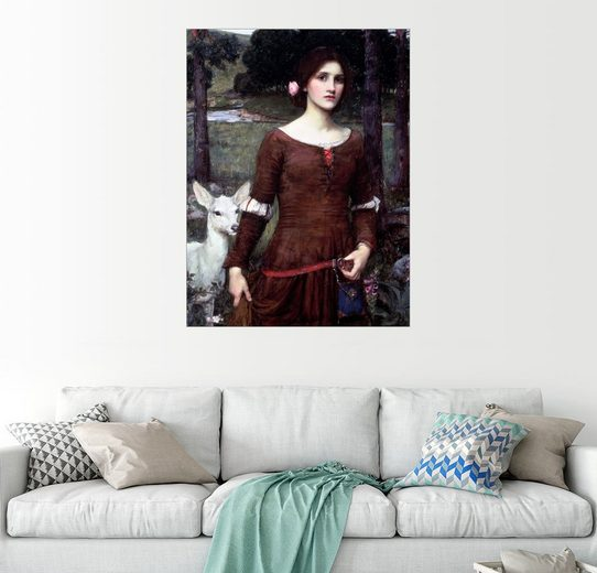 Posterlounge Wandbild - John William Waterhouse »Lady Clare«