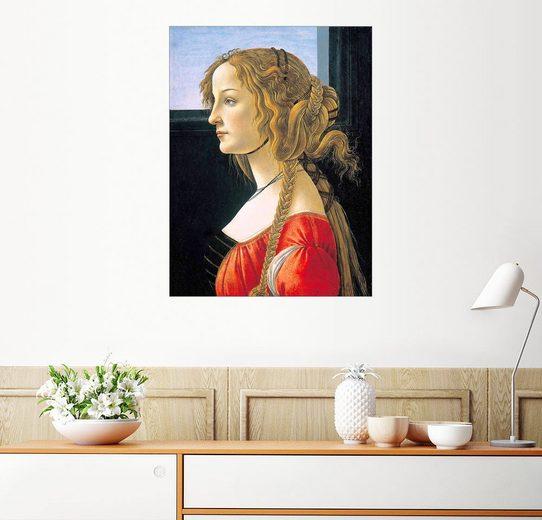 Posterlounge Wandbild - Sandro Botticelli »Simonetta Vespucci«
