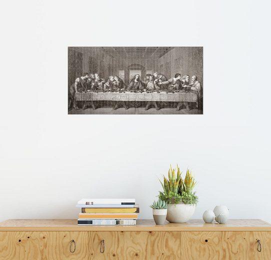 Posterlounge Wandbild - Ken Welsh »Das letzte Abendmahl nach Leonardo Da Vinci«