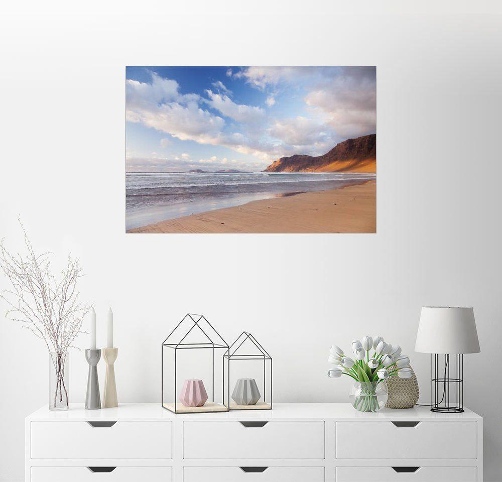 Posterlounge Wandbild - Markus Lange »Famara Strand, Lanzarote«