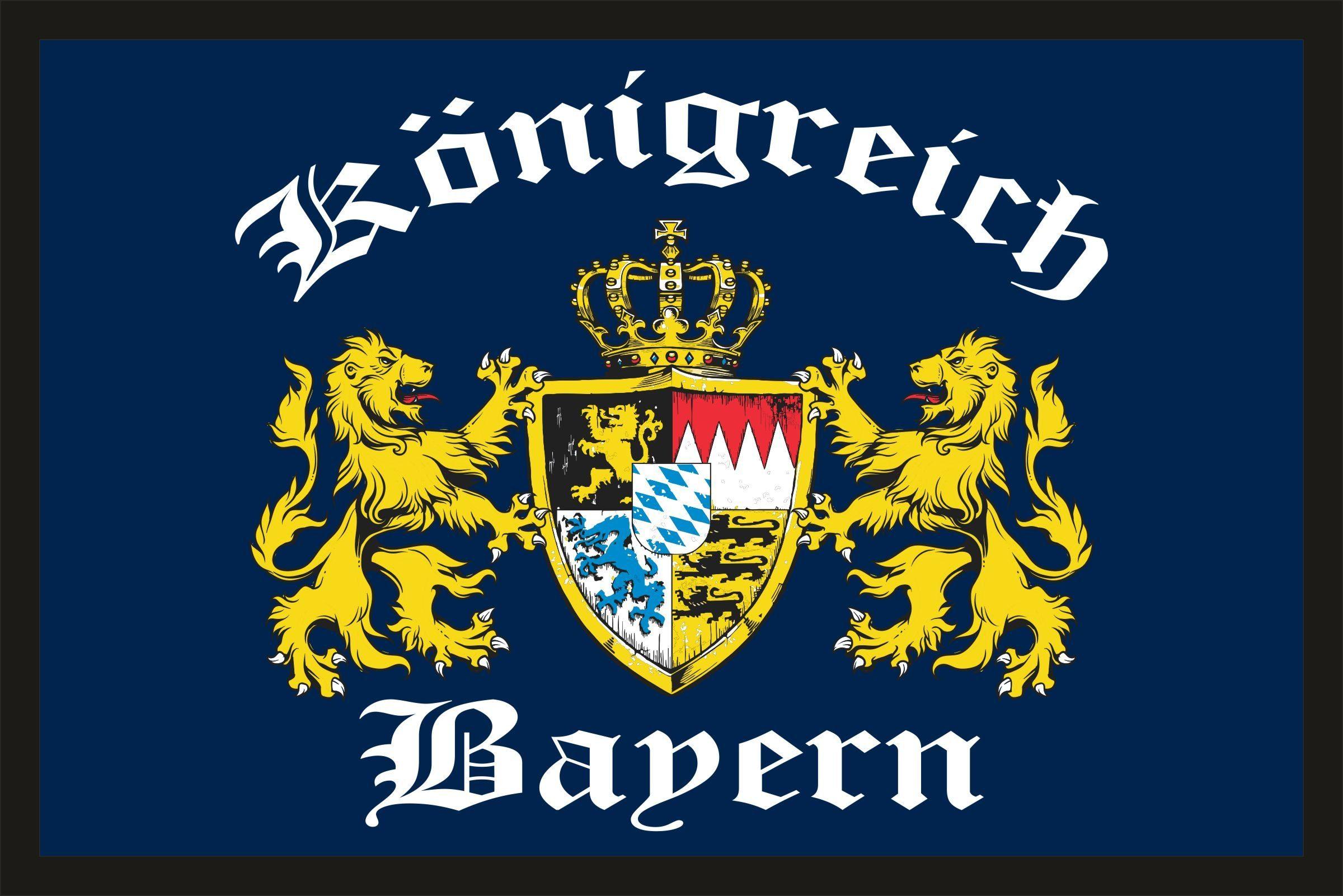 Rahmenlos Fußmatte mit Bayern-Motiv