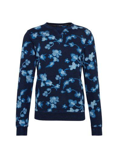 Scotch & Soda Sweatshirt Ams Blauw allover print indigo sweat