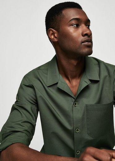 MANGO MAN Regular Fit-Hemd mit Reverskragen