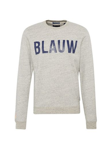 Scotch & Soda Sweatshirt Ams Blauw classic printed brand sweat