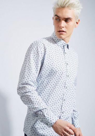 Otto Kern Langarm Hemd mit Print - Slim Fit