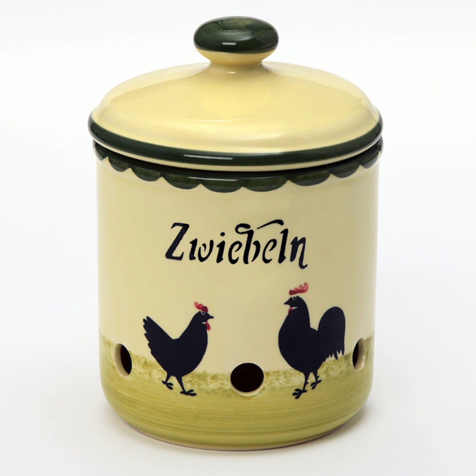 Zeller Keramik Zwiebeltopf »Hahn und Henne«
