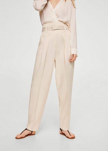 Mango Straight Pants With Belt