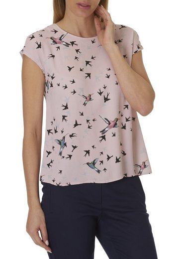 Betty&Co Bluse mit Vogelprint