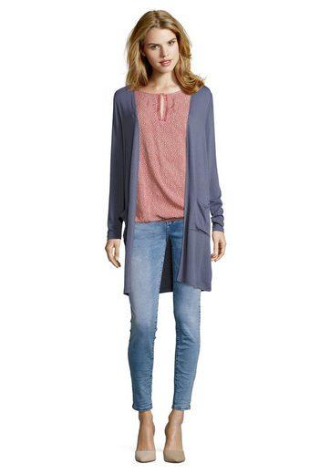 Public Shirtjacke im modischen Longstyle mit aufgesetzten Taschen