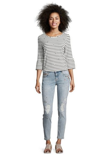 Cartoon Jeans mit Glitzerdetails