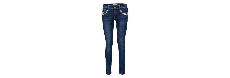Cartoon Jeans mit Perlen und Schmuckdetails Rabatt In Deutschland xyv0Oko