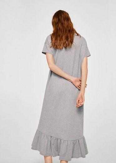 MANGO Volant-Kleid mit Patch