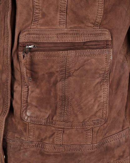 JCC Lederjacke mit Brusttaschen und Stehkragen 7081002-2