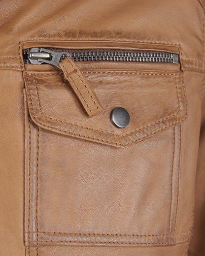 Jcc Leather Jacket With Stehkragen In Biker Style 1101019-2