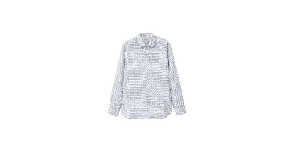 MANGO MAN Slim Fit Hemd mit floralem Dessin Günstig Kaufen Amazon 4lWS09uu