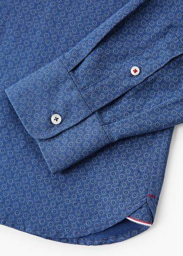 MANGO MAN Slim Fit-Hemd aus Baumwoll-Leinen-Gemisch