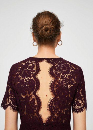 MANGO Kleid aus Baumwoll-Gipürespitze