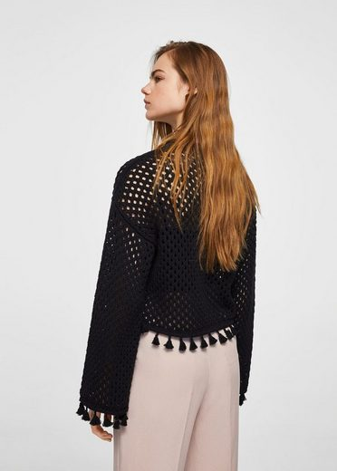 Mango Sweater Hole Pattern Of Recycling Cotton With