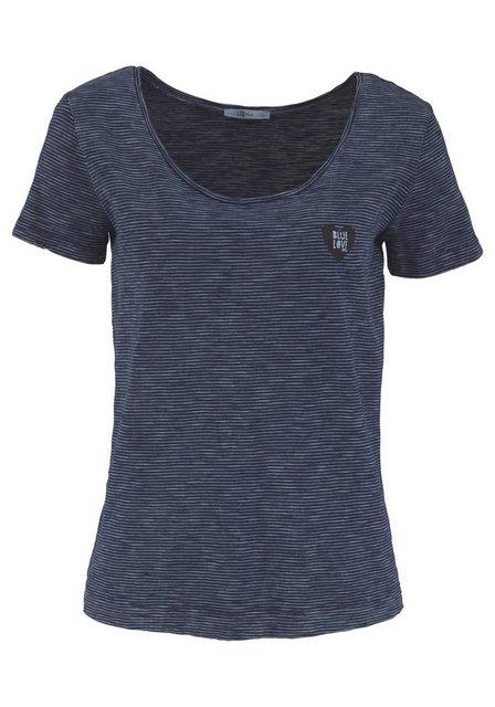 Damen LTB T-Shirt MISOCO mit Print blau | 08697600734279