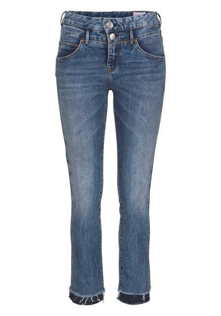 Baby,Kinder,Damen Herrlicher 7 8-Jeans BABY CROPPED mit ausgefranstem Saum blau | 04053192585684